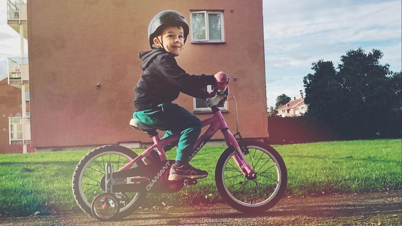 Bike ride in the backyard