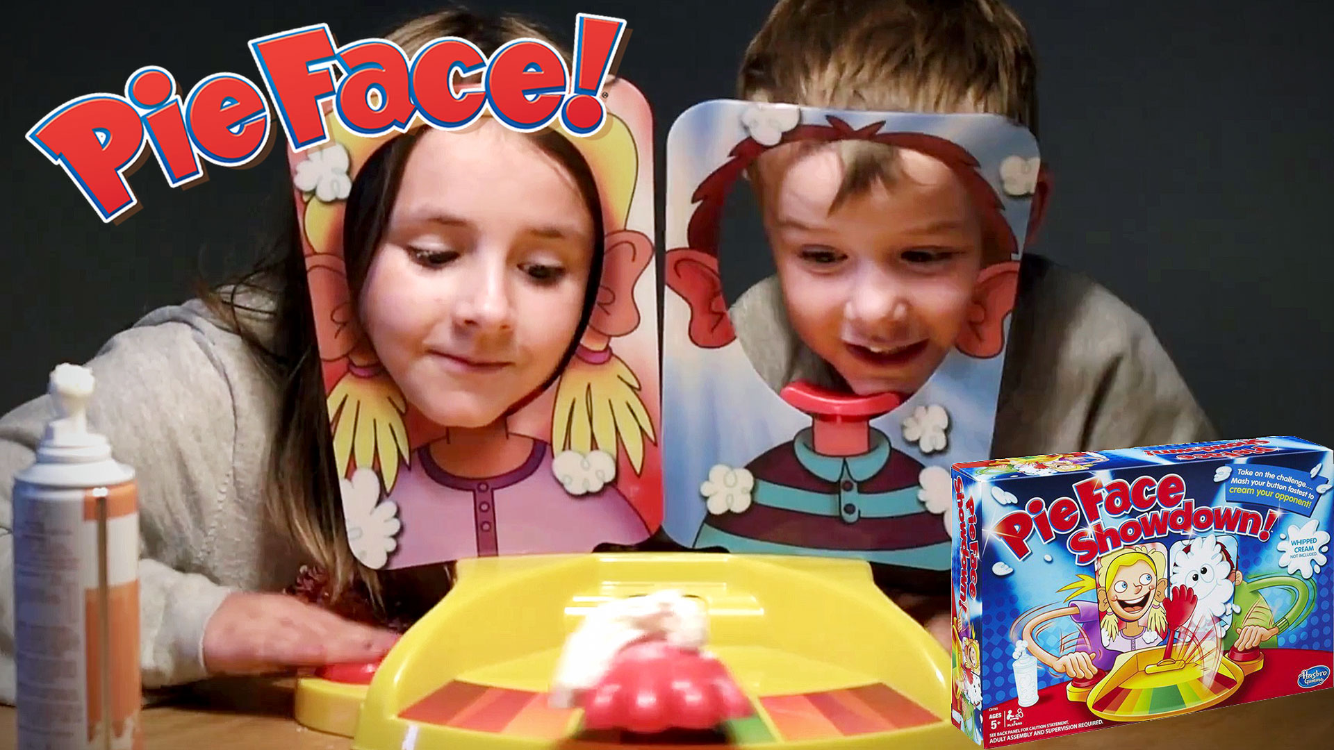 Pie Face Showdown Challange   Krem fjes